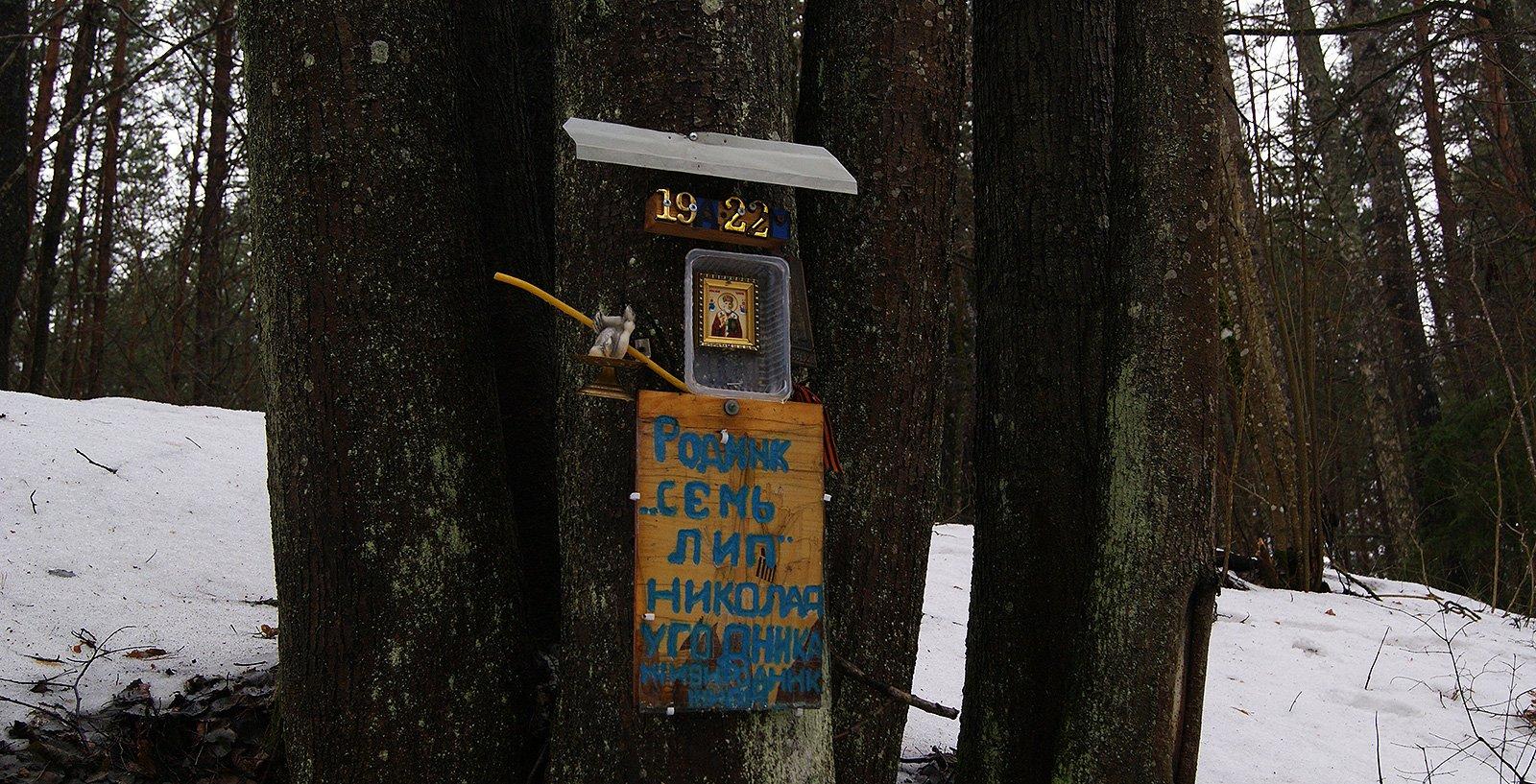 Родник «Семь лип» изгадили пластмассовой православной символикой :-(