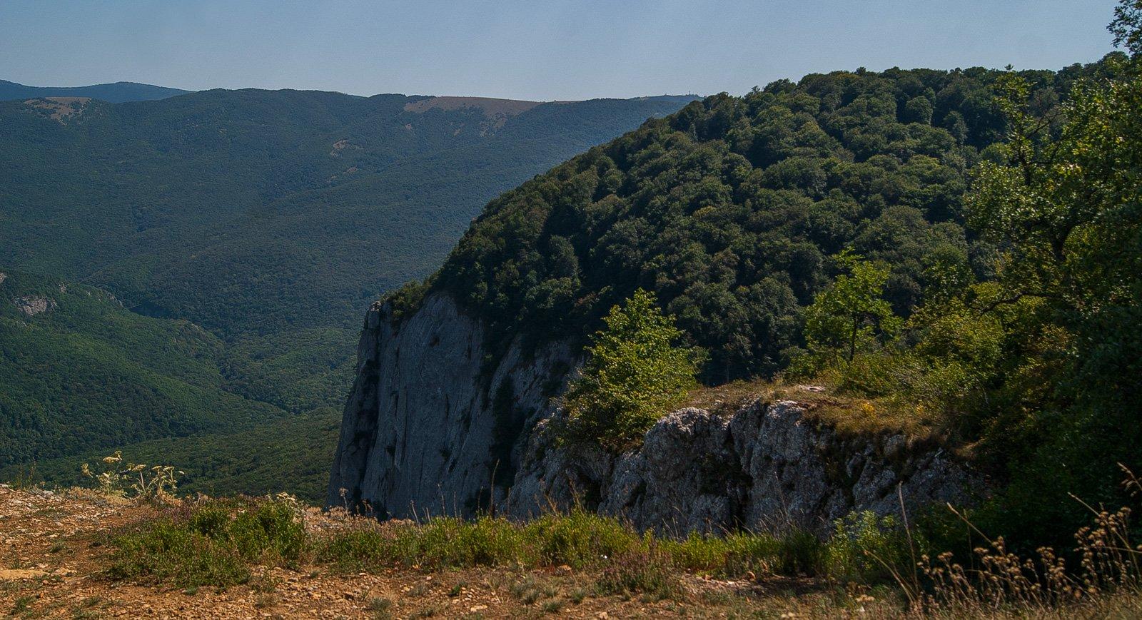 Вид на выход из большого каньона с горы Седам-Кая