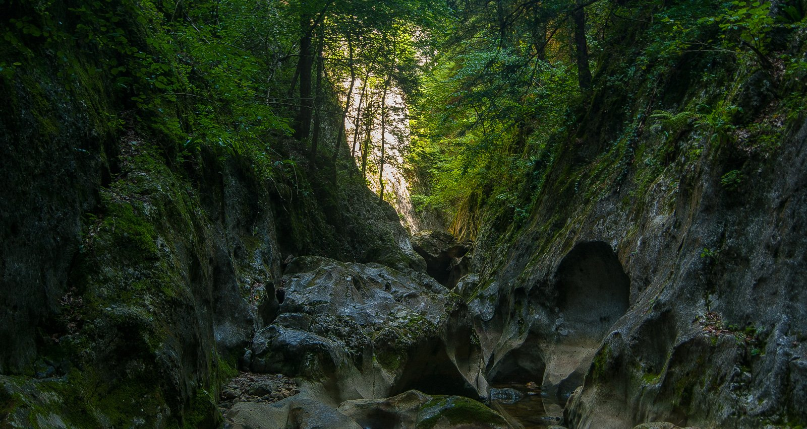«Каменный сыр» — эрозионные полости на дне каньона