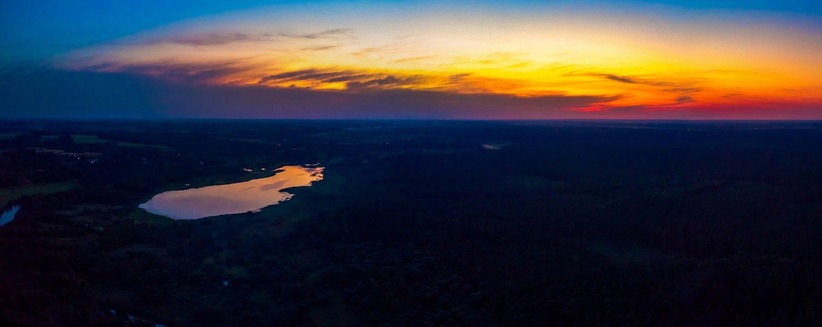 озеро Бечино на закате
