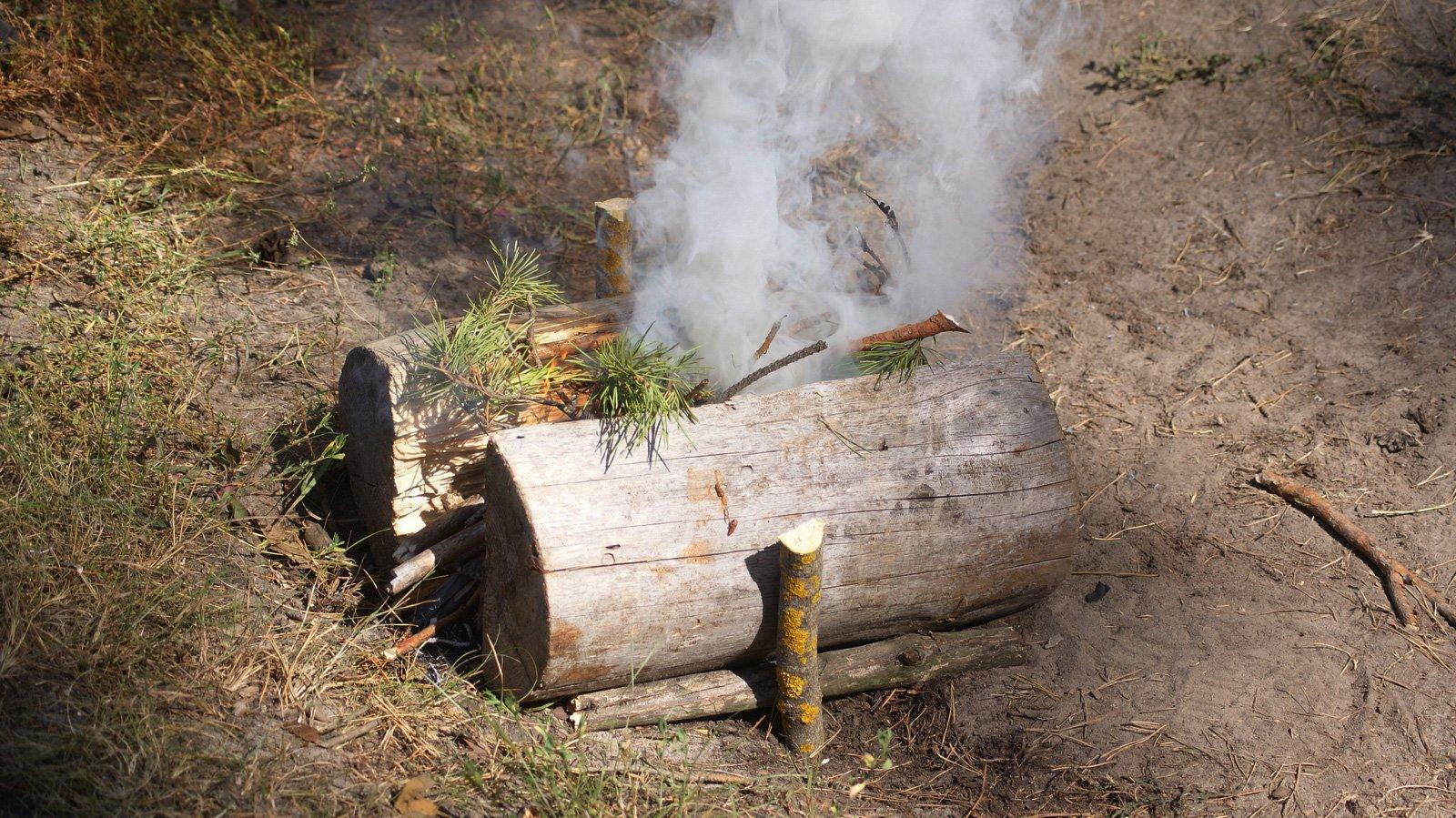 Подготовка деревянного <s>бушлата</s> мангала