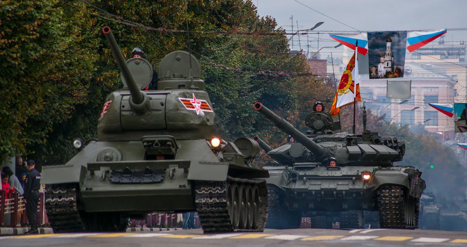 Т-34-85 и Т-72Б3