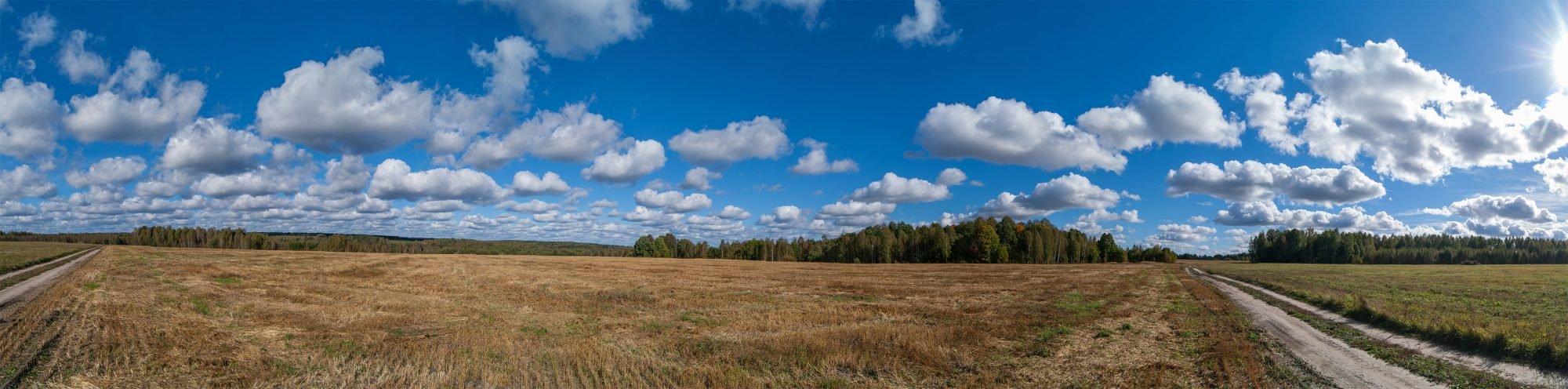 Панорама дороги на урочище Мокрое