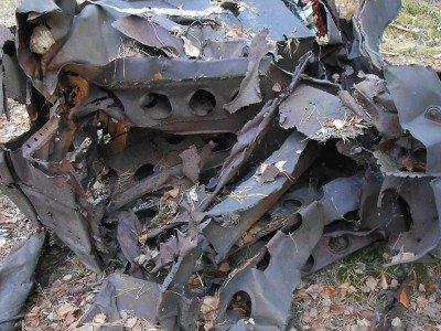 Место падения самолета «Дуглас»